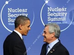 Presidente piñera  y la gran visita desde EEUU del presidente Obama