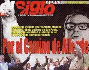 """Portada Diario  """" El Siglo """""""