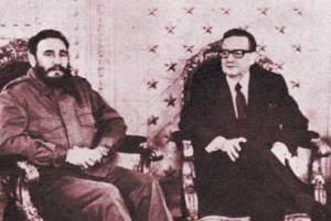 Este es un gobierno socialista, mierda!  Y no vamos entregar ningún revolucionario...  S. Allende