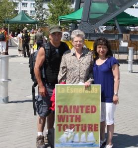 Campaña red repudio a la visita de la esmeralda a Vancouver, Canada
